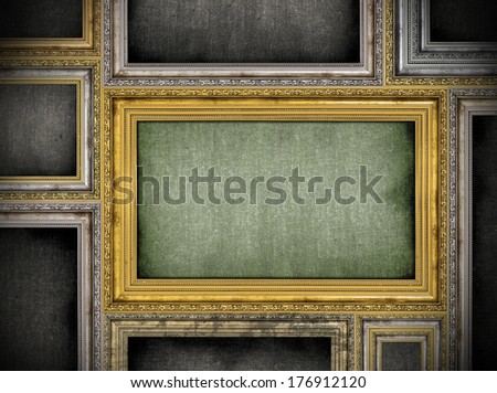 variety of frames arranged side by side - stock photo