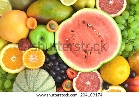 variety of fresh and delicious fruits on the table