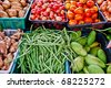 variety of fresh vegetables in market closeup background , Asia , Thailand - stock photo