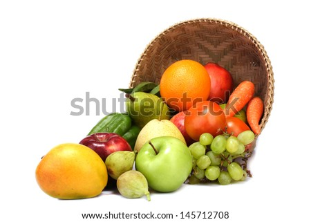 Variety of fruits - stock photo