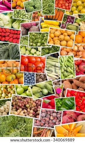 variety popular farmers market fruits vegetables stock photo edit