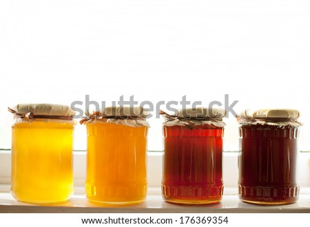 variety of raw organic honey bee products