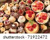 Variety of sweet festive cookies - stock photo