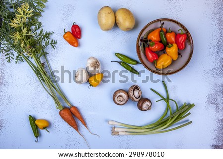 Variety of veggies. - stock photo