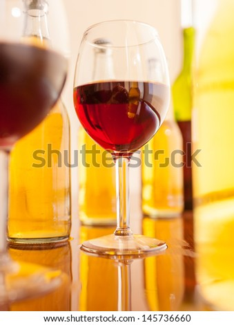 Various alcoholic drinks - stock photo