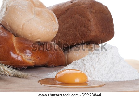 Various baking and egg - stock photo