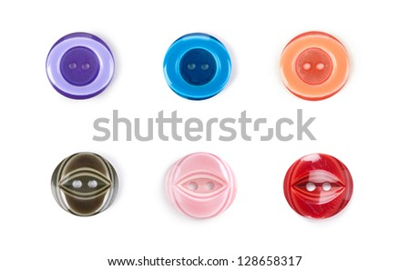 Various  buttons with a thread.