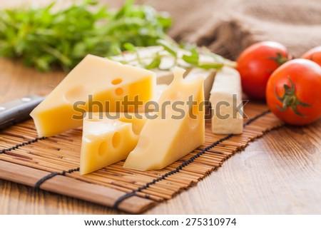 Various cheese recipes - stock photo
