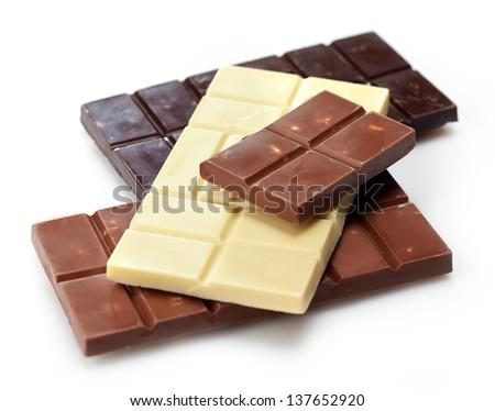 various chocolate bar - stock photo