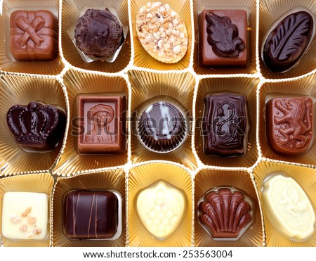 various chocolate candies - stock photo