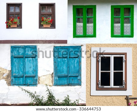 Various classical windows at Transilvania