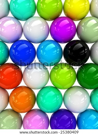 various color balls which can reflect light.