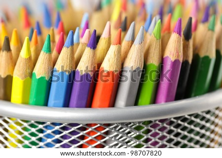 Various color pencils - stock photo