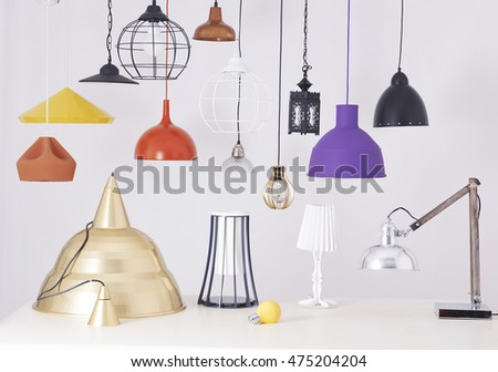 various colored modern ceiling lights