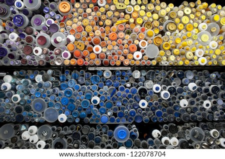 various colorful buttons