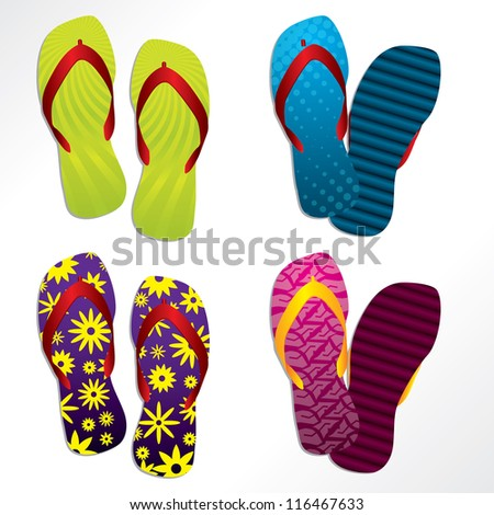 Various colorful flip flop designs for the summer