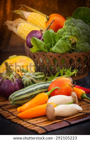 various colorful raw vegetables