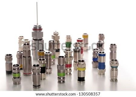 Various connectors for coaxial cables