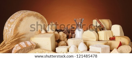 Various dairy products - stock photo