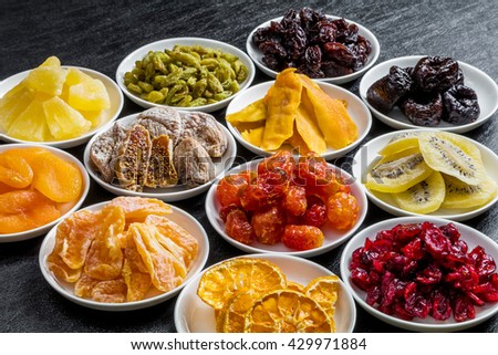 Various dried fruit - stock photo