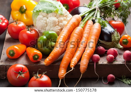 various fresh vegetable