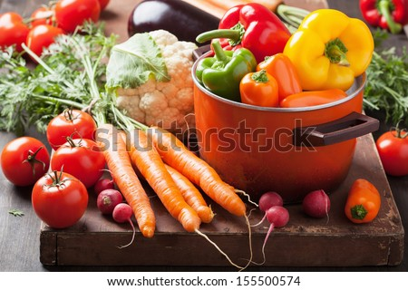 various fresh vegetable - stock photo