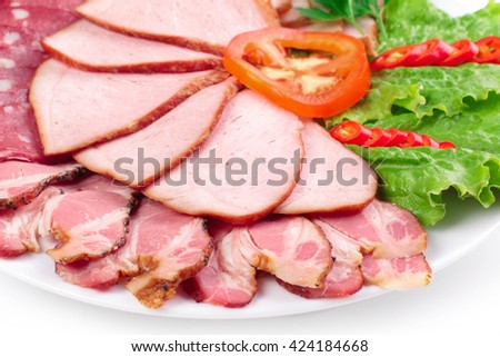 various meat composition - stock photo