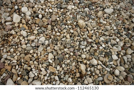 various pebble river stones texture - stock photo