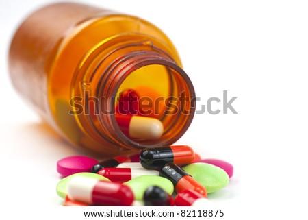 various pills - stock photo
