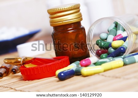 Various pills for various conditions - stock photo