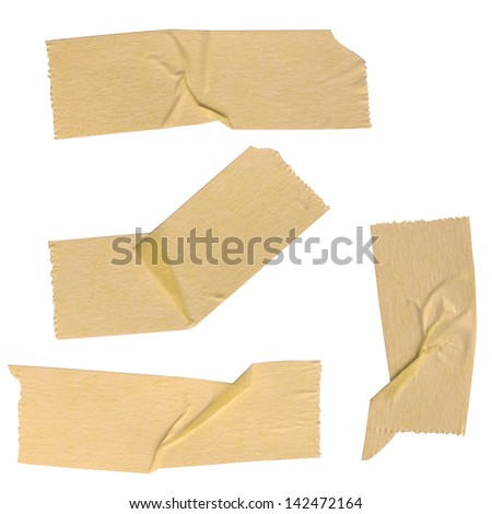 Various scotch tape with clipping path, set two ( There is more set in my portfolio) - stock photo