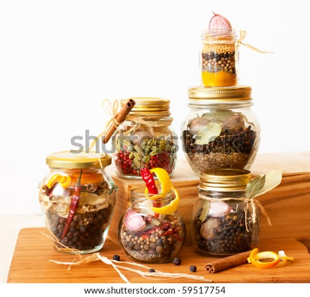 Various sets of spices - stock photo