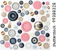 Various sewing buttons - stock photo