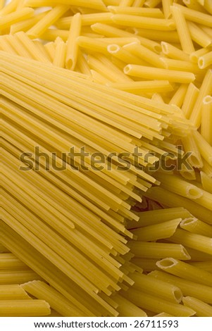 various shapes of pasta background