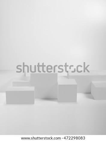 various solid on a white background