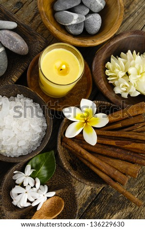 Various spa and aromatherapy