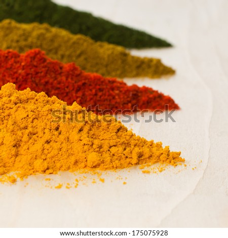 Various spices closeup - stock photo