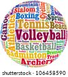 Various sport info-text graphics and arrangement concept - stock
