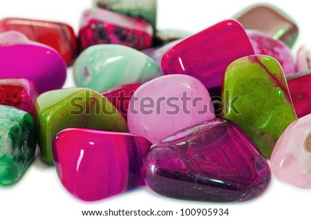 Various stones, minerals, gems, that contain spiritual force human believes. - stock photo