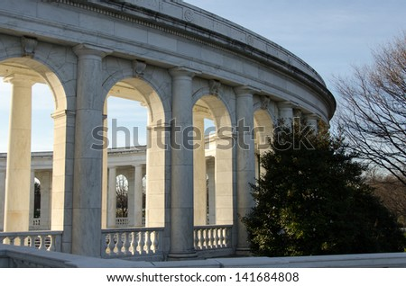 Various structures at Arlington National Cemetery, Virginia - stock photo