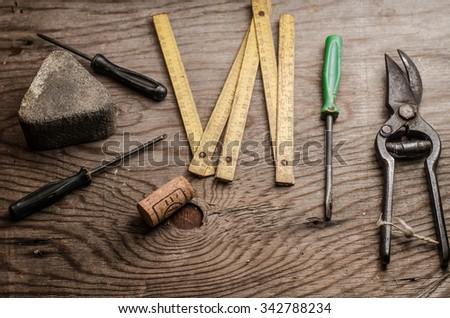 various tools,horizontal photo - stock photo