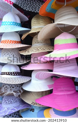 various types of colorful hats