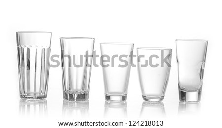 various types of juice glasses