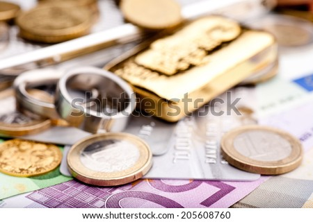 Various valuables - stock photo
