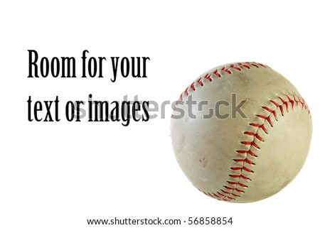 various views of a baseball, isolated on white - stock photo