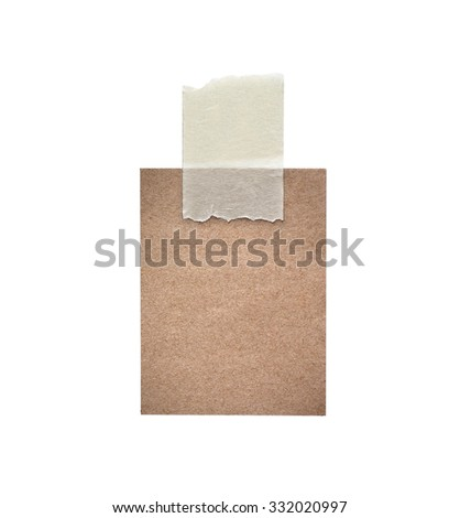 various vintage note papers on white background