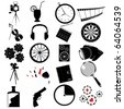 Various web icons, designer collection - stock photo
