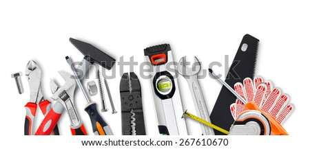 Various work tools - stock photo