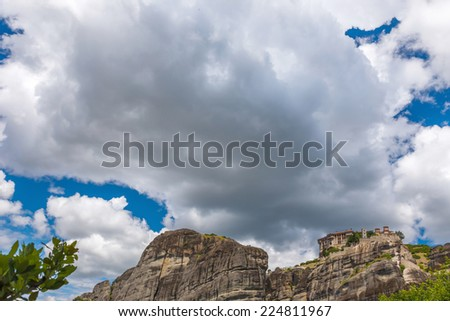"Varlaam Monastery in Meteora rocks, meaning ""suspended into air"" in Trikala, Greece"