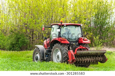 Varna, Bulgaria - MAY 06, 2015: Case IH Puma 140 agricultural tractor on display. Case IH wins two gold medals at AGROTECH - the 20th International Fair of Agricultural Techniques.